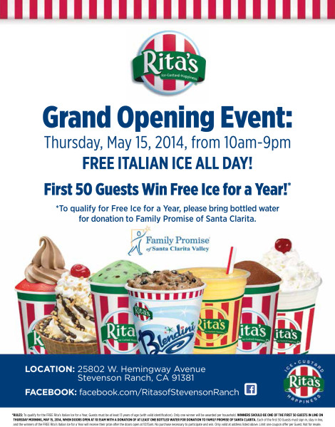 Rita's Frozen Custard Supporting FPSCV